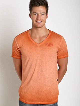 G-Star Hav Lyon Jersey V T-Shirt Royal Orange