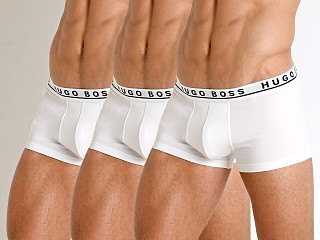Complete the look: Hugo Boss Cotton Stretch Trunks 3-Pack White