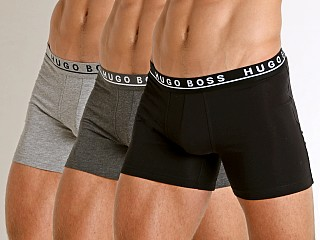 Hugo Boss Cotton Stretch Boxer Briefs 3-Pack Grey/Charcoal/Black