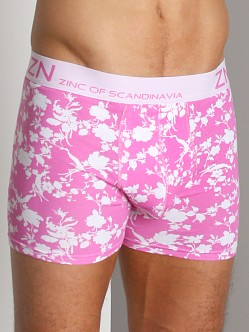 Zinc Of Scandinavia Low Rise Boxer White/Pink