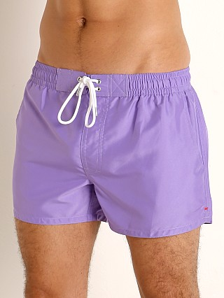 Model in new purple 2xist Ibiza Swim Shorts