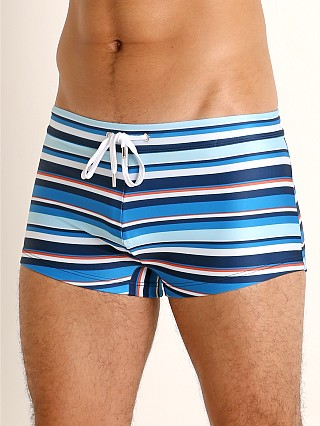 2xist Sliq Cabo Swim Trunk Multi Stripe Varsity Navy