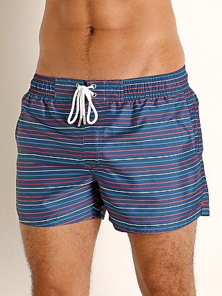 Model in thin stripe gibraltar sea 2xist Ibiza Swim Shorts