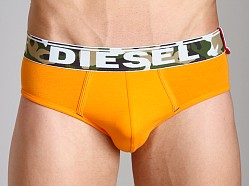 Diesel Camo Waistband Andre Briefs Orange