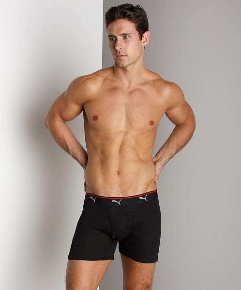 Puma Cat 100% Cotton Boxer 3-Pack Black