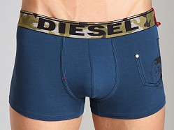 Diesel Camo Waistband Shawn Trunk Navy