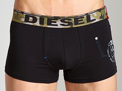 Diesel Camo Waistband Shawn Trunk Black