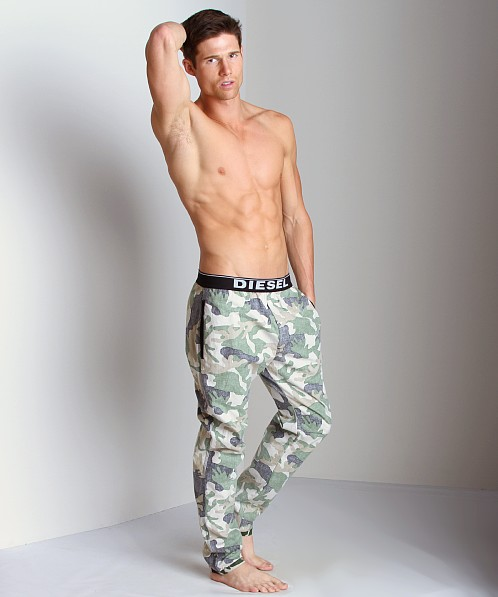 Diesel Workyboy Camouflage Lounge Pants Light Camo