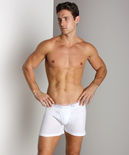 Puma Cat 100% Cotton Boxer 3-Pack White