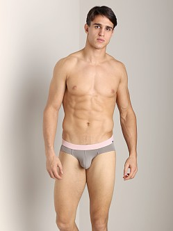 Tulio Slinky Power Pouch Bikini Light Grey/Baby Pink