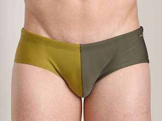 Tulio Harlequin Racer Swim Brief Olive/Army/Black