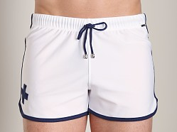 Tulio Loose Fit Retro Short White/Navy