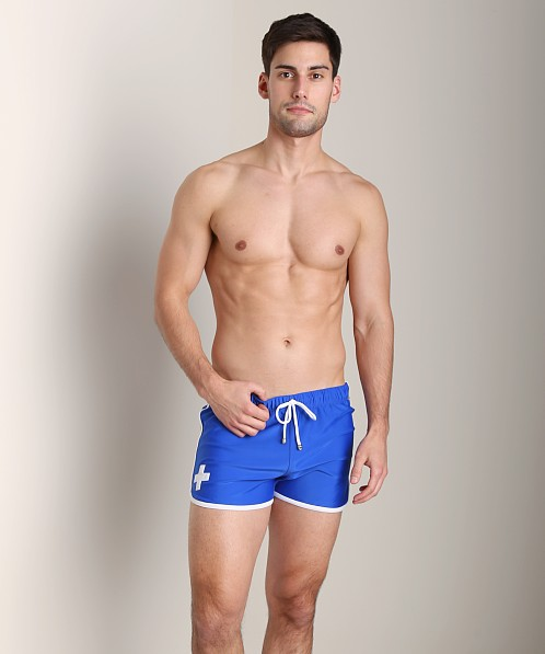 Tulio Loose Fit Retro Short Royal/White