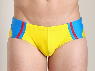 Tulio Color Block Surf Brief Yellow