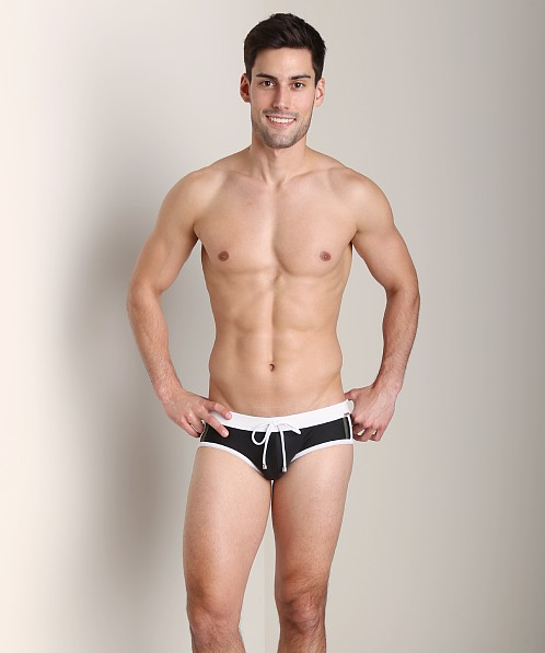 Tulio Color Block Sport Brief Black