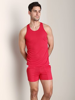 Tulio Color Block Dry Fit Tank Top Red
