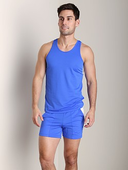 Tulio Color Block Dry Fit Tank Top Royal
