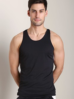 Tulio Color Block Dry Fit Tank Top Black