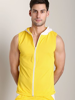 Tulio Color Block Dry Fit Hoody Yellow