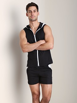 Tulio Color Block Dry Fit Hoody Black