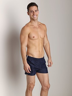 Tulio Nylon Stripe Surf Trunk Navy