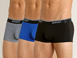 2xist Stretch No-Show Trunk 3-Pack Black/Black/Royal