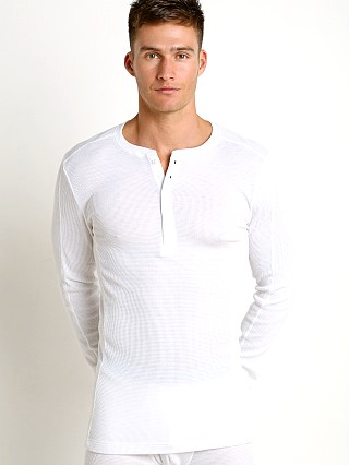 2xist Sport Tech Long Sleeve Henley White