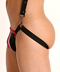 Cell Block 13 X-Back Mesh Pouch Jockstrap Red, view 4
