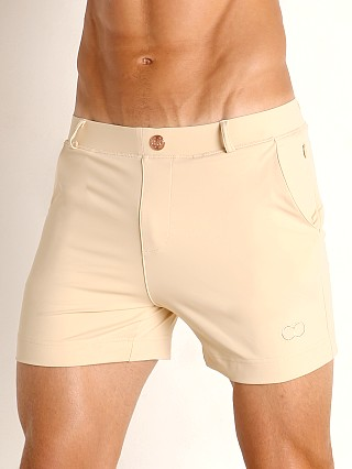 Model in sand 2EROS Bondi Swim Shorts