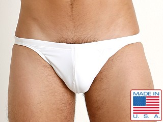 LASC Super Low Rise Solid Swim Brief White