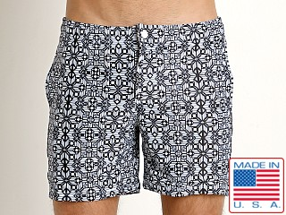 LASC Laguna Swim Shorts Black/White Mosaic