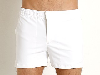 Complete the look: LASC Solid Nylon Malibu Swim Trunk White