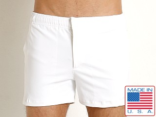 LASC Solid Nylon Malibu Swim Trunk White
