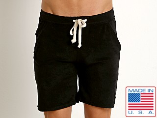 LASC Solid Terry Rower Short Black