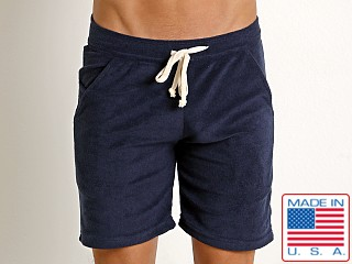 LASC Solid Terry Rower Short Navy