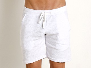 Complete the look: LASC Solid Terry Rower Short White