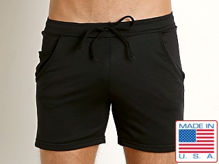 LASC Performance Pique Workout Short Black