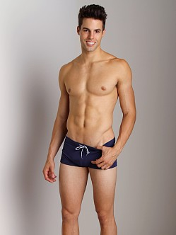 Emporio Armani Piquet Lycra Swim Trunk Blueberry