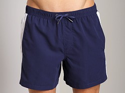 Emporio Armani Binding Silver Swim Shorts Blueberry