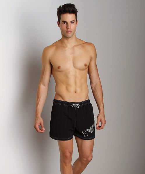 Emporio Armani Big Logo Swim Shorts Black