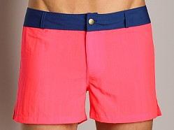 Go Softwear Laguna Board Short DayGlo Cherry/Navy