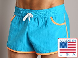 Go Softwear Sunset Swim Short Turquoise/Tangerine