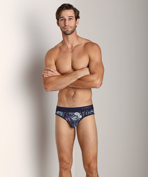 Diesel All Over Print Blade Brief Navy