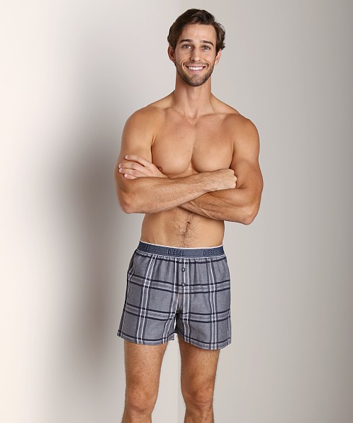 Diesel Luv Plaid Boxer Navy