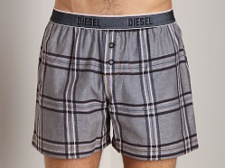 Diesel Luv Plaid Boxer Black