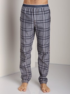 Diesel Workyboy Plaid Lounge Pants Navy