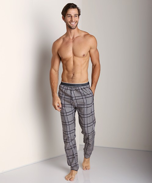 Diesel Workyboy Plaid Lounge Pants Black