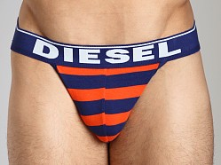 Diesel Fresh & Bright Striped Jocky Jockstrap Orange/Blue