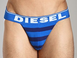 Diesel Fresh & Bright Striped Jocky Jockstrap Navy/Baby Blue