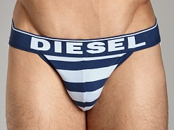 Diesel Fresh & Bright Striped Jocky Jockstrap Blue/Powder Blue